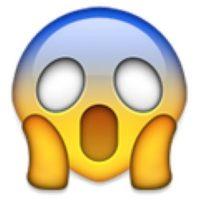 1- Cara sorprendida en iOS. Foto:vía emojipedia.org