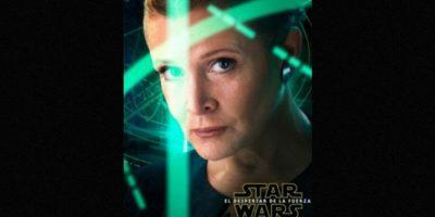 "Carrie Fisher como ""La Princesa Leia"" en nuevo póster de ""Star Wars: The Force Awakens"". Foto:Facebook/StarWars.LATAM"