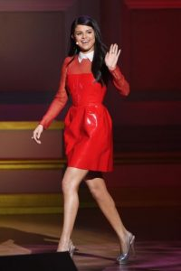 "El pasado 9 de noviembre, Selena llegó a la gla ""Glamour Women of The Year"". Foto:Getty Images"