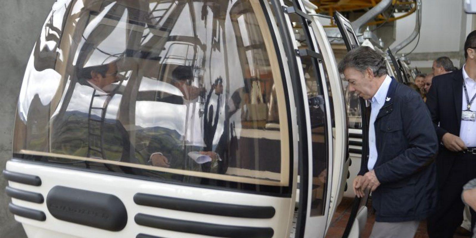 El teleférico tiene 1350 metros de longitud y salva un desnivel de 350 metros Foto:Presidencia