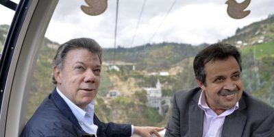 El presidente inauguró el teleférico que permite una llegada más fácil al Santuario de Las Lajas, en Ipiales Foto:Presidencia