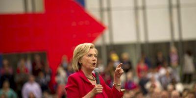 Pues al parecer son la prenda favorita de la precandidata. Foto:Getty Images