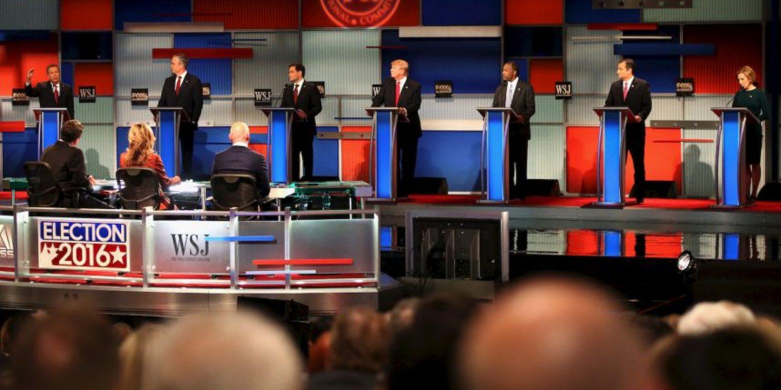 Los ataques a la precandidata republicana Hillary Clinton también estuvieron presentes. Foto:Getty Images
