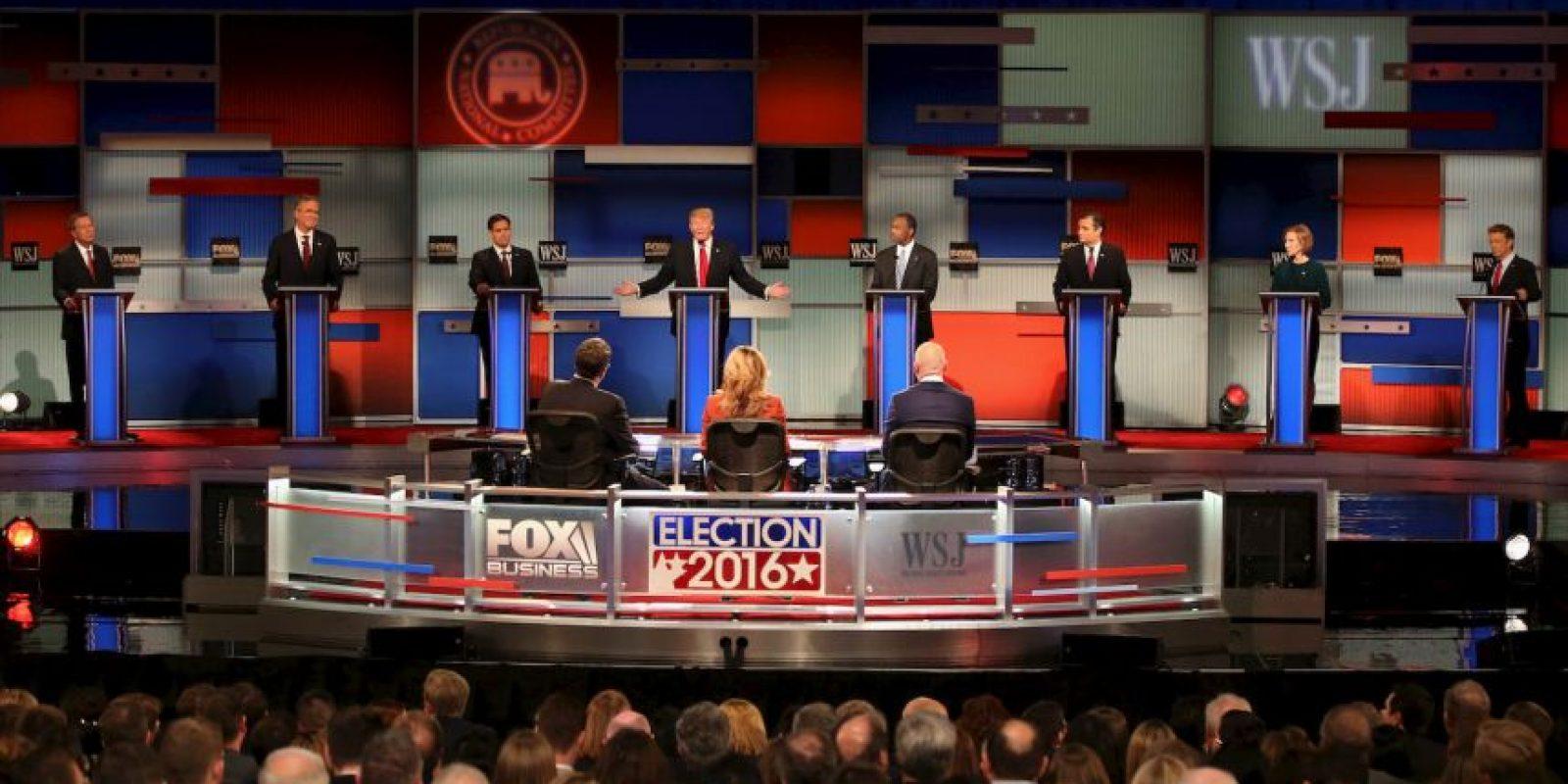 Los principales precandidatos se enfrentaron por cuarta ocasión. Foto:Getty Images