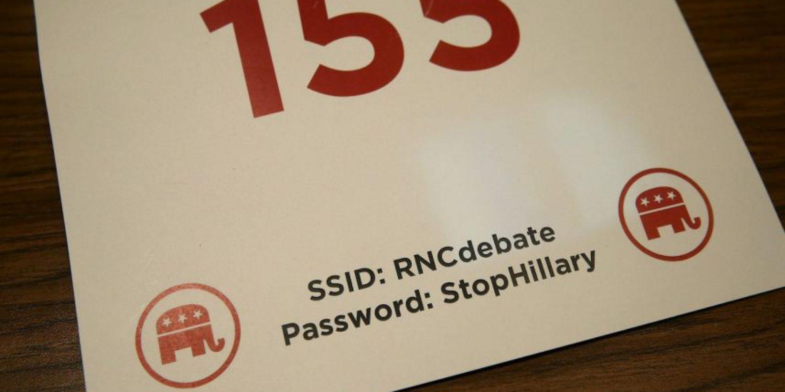 """La contraseña para utilizar el wi-fi era """"StopHillary"""" (Paren a Hillary). Foto:Getty Images"""