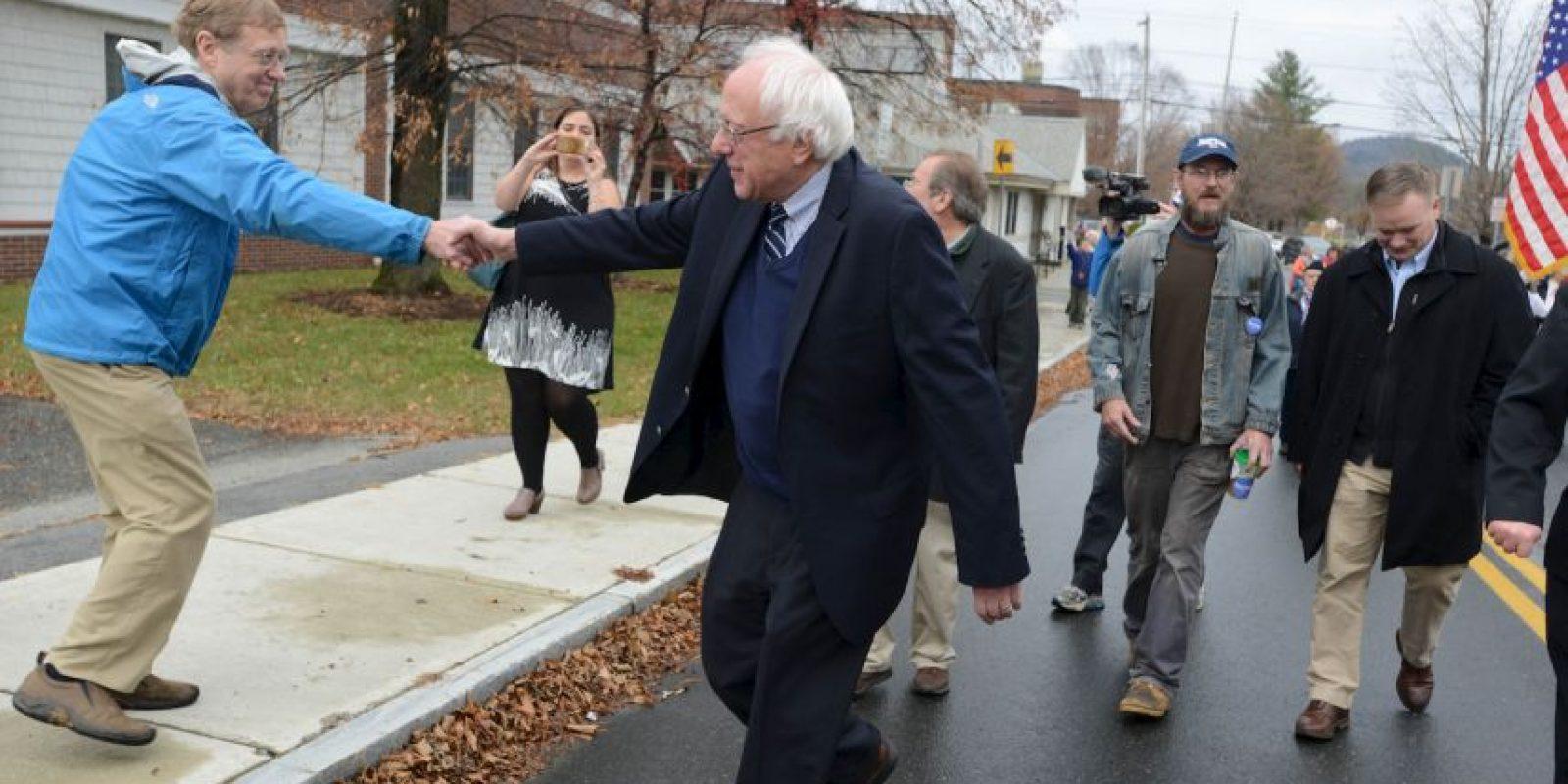 Se trata de Bernie Sanders, rival de Hillary Clinton en las primarias del Partido Demócrata Foto:Getty Images