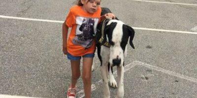 Su perro Gran Danés le ha ayudado en todo este proceso. Foto:Vía Facebook/Bella and George
