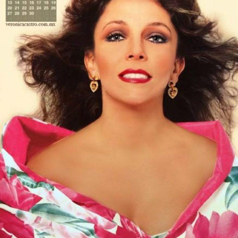 Verónica Castro era ídolo indiscutible en los años 80. Foto:vía Facebook/Verónica Castro