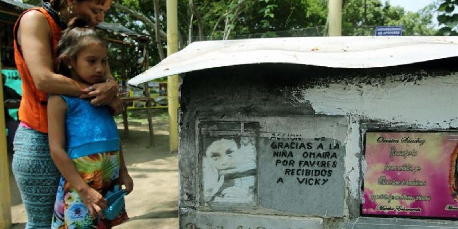 Treinta años después, solo queda en Armero Foto:EFE