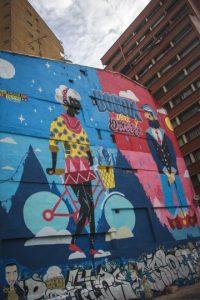 Esta es la primera obra del grupo 'A tres manos' y tiene un mensaje distrital: Bogotá libre y diversa, Foto:Carlos Bernate