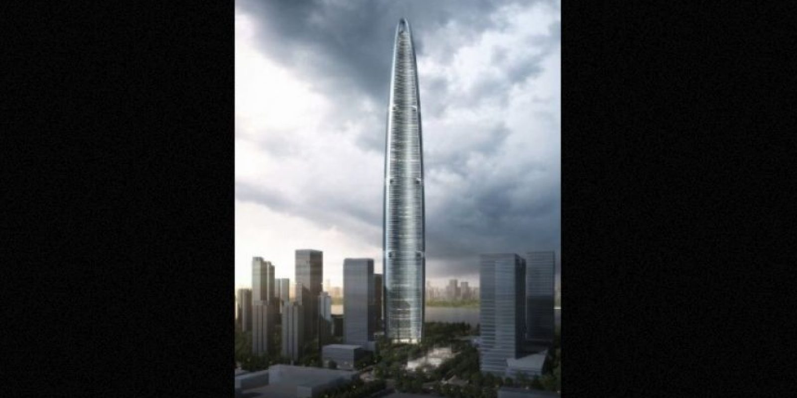 4. Wuhan Greenland Centre en China – 125 pisos – 636 metros (2087 pies) Foto: Adrian Smith + Gordon Gill Architecture – Skyscrapercenter.com