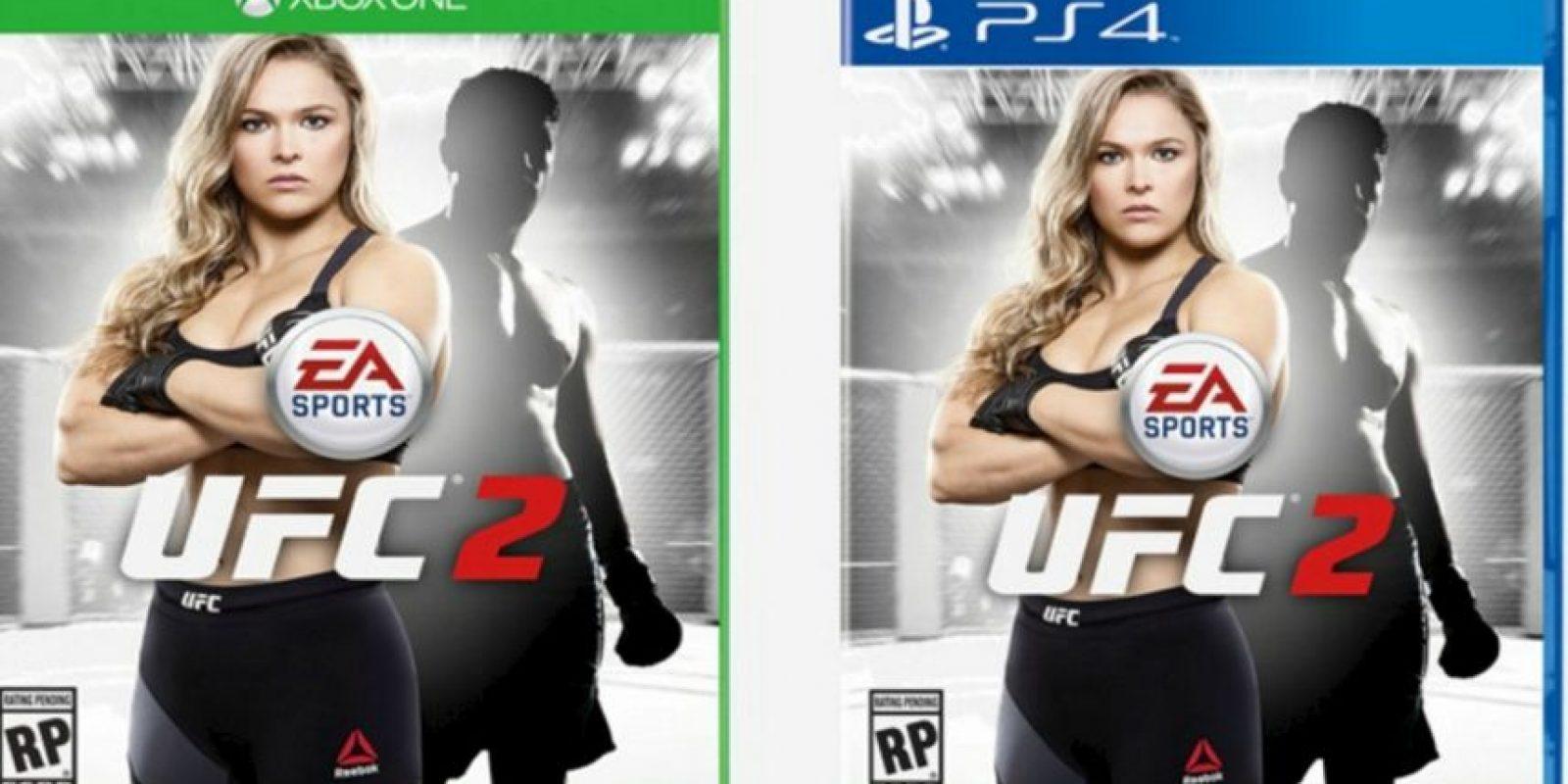 """Ronda Rousey en la portada de """"UFC 2"""". Foto:EA Sports"""
