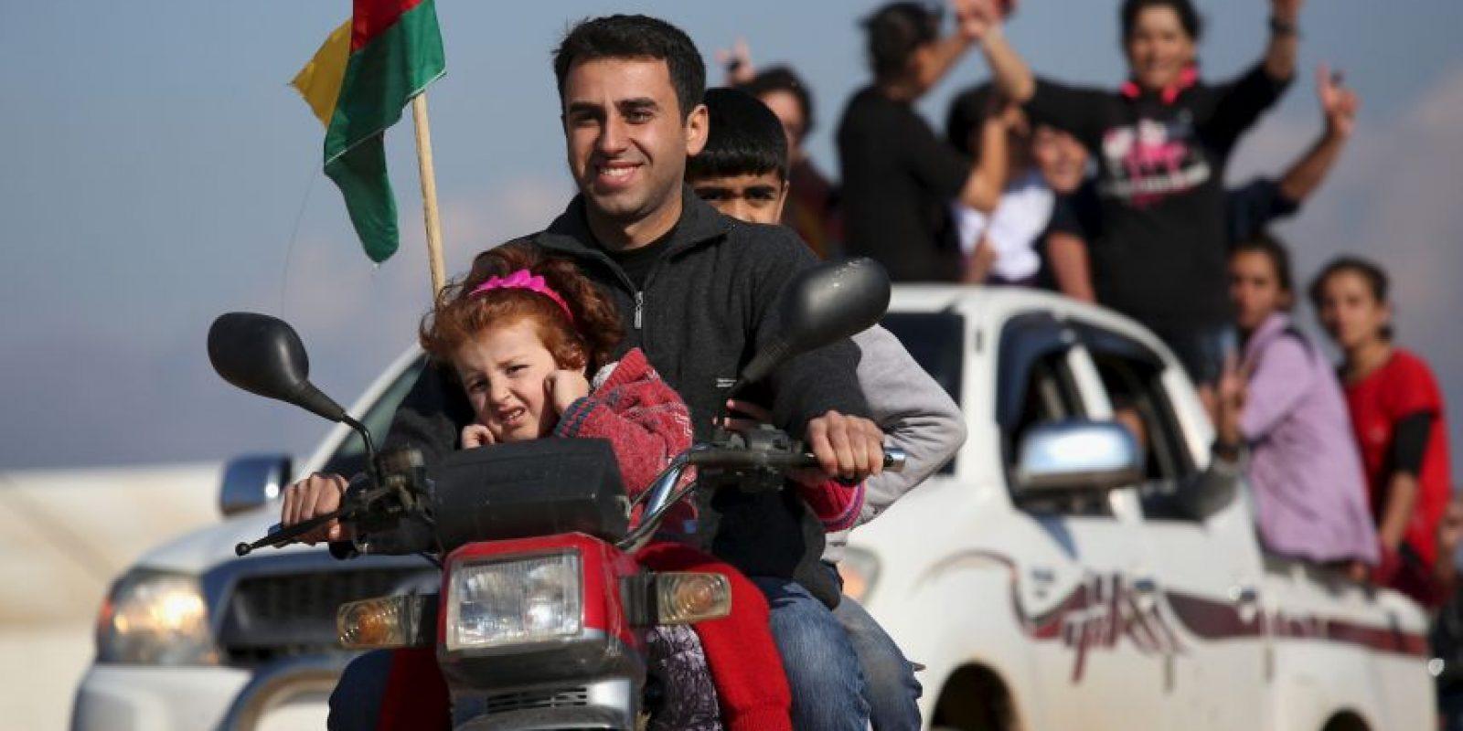 También fue el primer movimiento de migración provocado por ISIS Foto:Getty Images