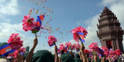 Festival de independencia en Camboya. Foto:AFP