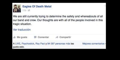 Cosa que el crew de la banda no confirma oficialmente. Foto:vía Facebook