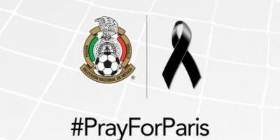 Selección Mexicana: Lamentamos y reprobamos los actos acontecidos en Francia. Nuestra solidaridad con toda su gente. #PrayForParis. Foto:Vía twitter.con/miseleccionmx