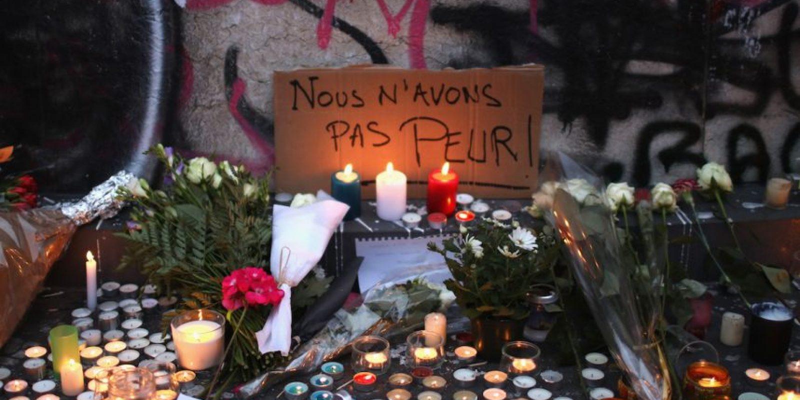 """No tenemos miedo"". Foto:Getty Images"