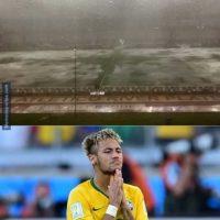"""Y enseguida, los internautas recordaron los """"piscinazos"""" de Neymar. Foto:memedeportes.com"""
