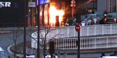 9 de enero- Toma de rehenes en supermercado en París. Foto:AFP
