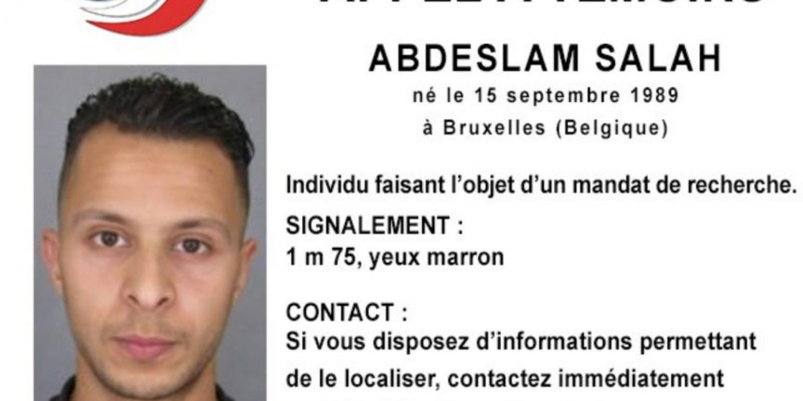 Hoy Francia y Bélgica anunciaron la orden de captura de Abdeslam Salah por los atentados terroristas. Foto:AP
