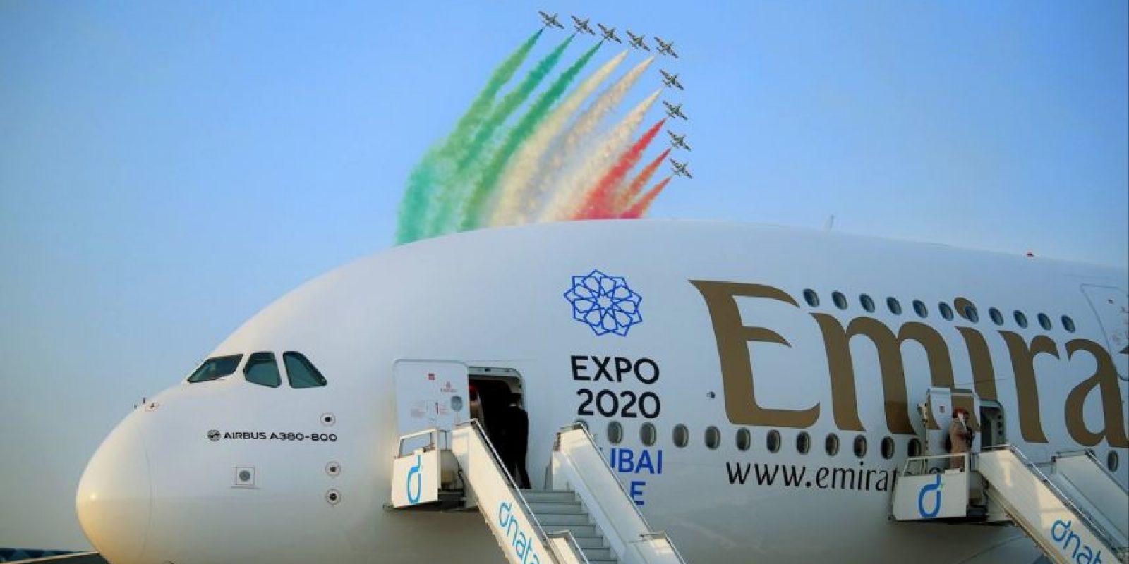 Este es el primer avión Airbus A380 de la aerolínea de dos clases. Foto:Vía facebook.com/Emirates