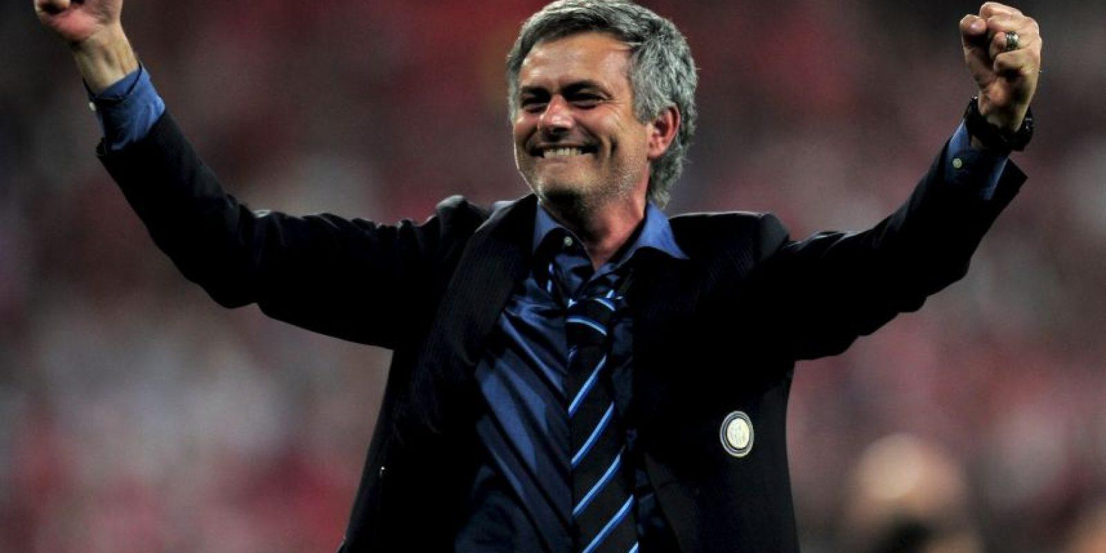 """""""Mou"""" fue fichado por el Real Madrid cuando comenzaba su tercera campaña con los italianos, con quienes ganó dos Ligas y una Champions League. Foto:Getty Images"""