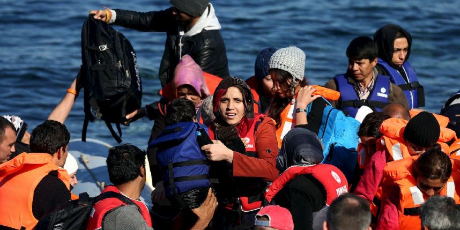 3. La OIM ha estimado que 800 mil personas han llegado a Europa este año por mar. Foto:Getty Images