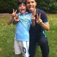 Benjamín Agüero Maradona, hijo suyo y de Giannina Maradona es idéntico a él. Foto:Vía instagram.com/aguerosergiokun16