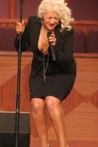 Christina Aguilera, en un momento vergonzoso. Foto:vía Tumblr