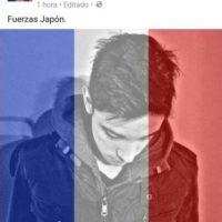 Galería: las peores 'metidas de pata' con el filtro de la bandera de Francia Foto:Tomada de Facebook