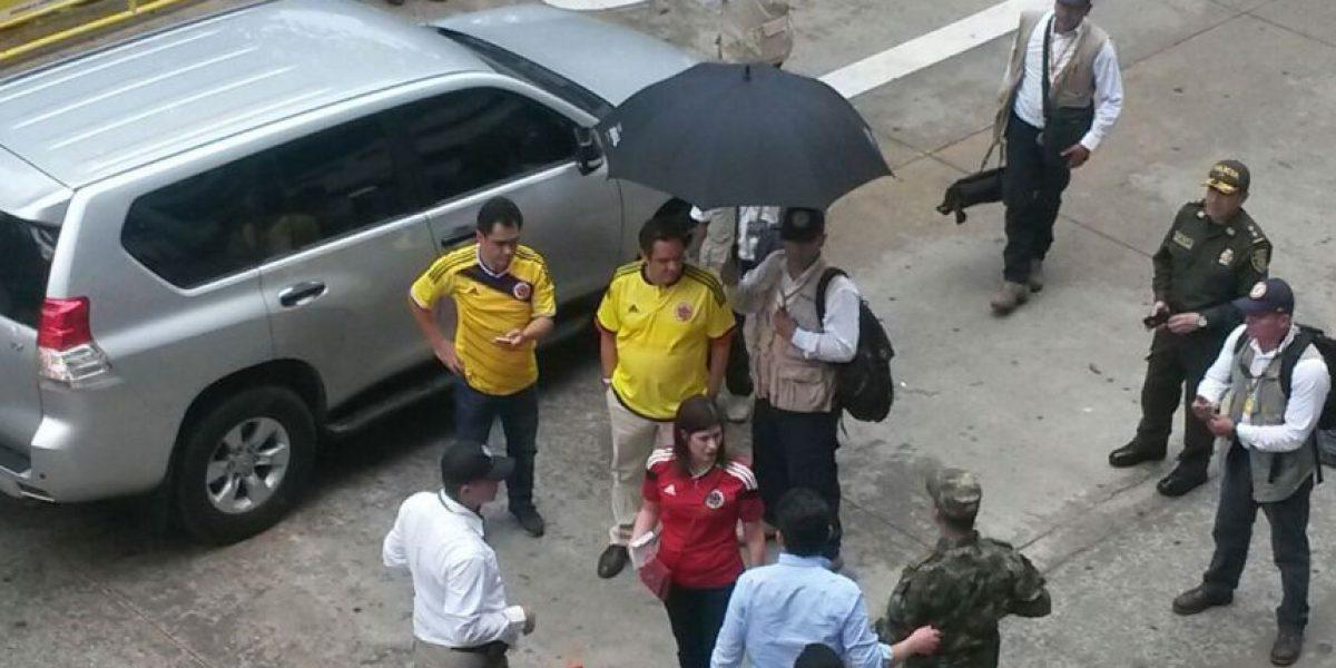 Fotos: Así llegó Vargas Lleras al partido de Colombia en Barranquilla
