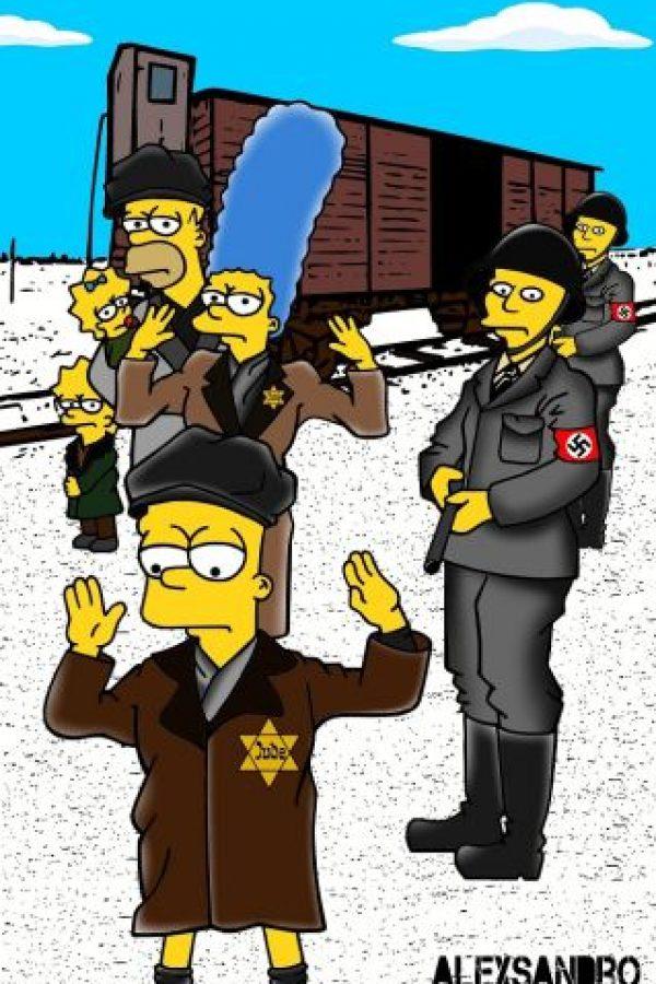 Utilizó a los personajes de Los Simpson como víctimas de los Campos de Concentración Foto:aleXsandro Palombo