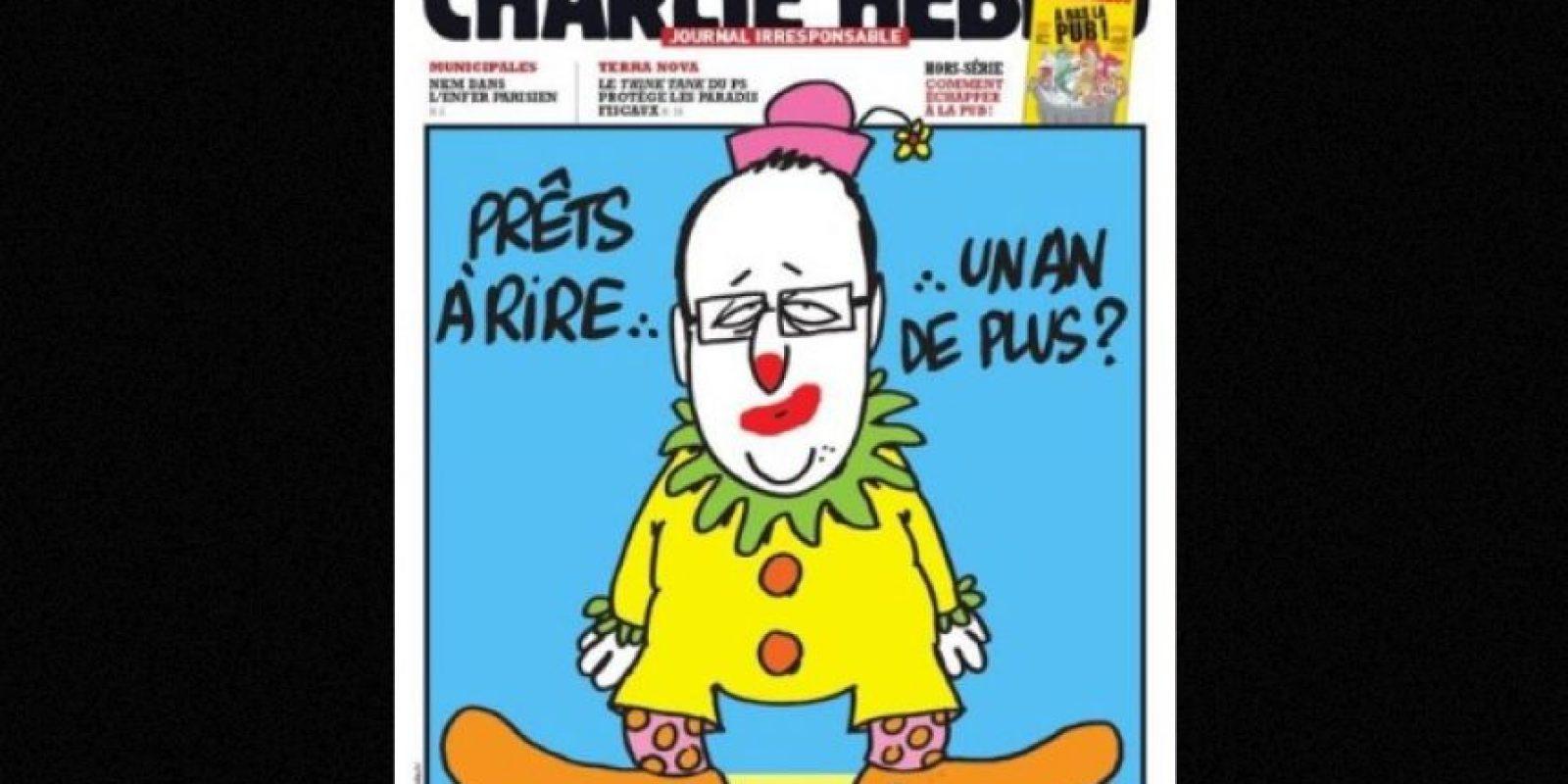 También se burlaban del presidente Francois Hollande Foto:Facebook: Charlie Hebdo Officiel