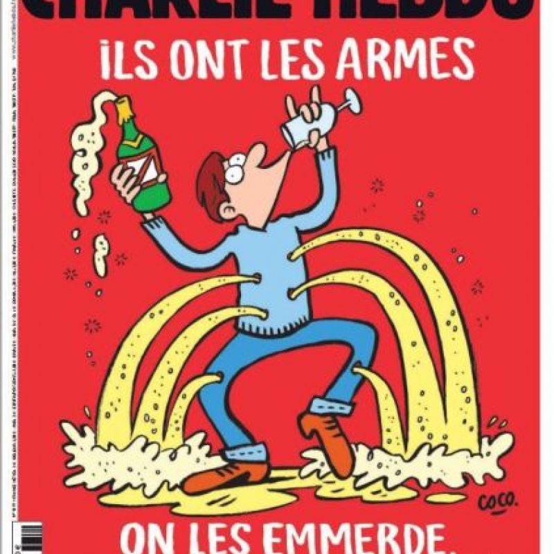 Esta es la portada del semanario tras los atentados en París del viernes 13 de febrero Foto:Charlie Hebdo