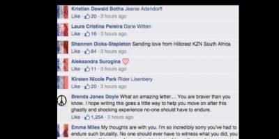 Ahora la gente le ha escrito apoyándola. Foto:vía Facebook/Isobel Bowdery
