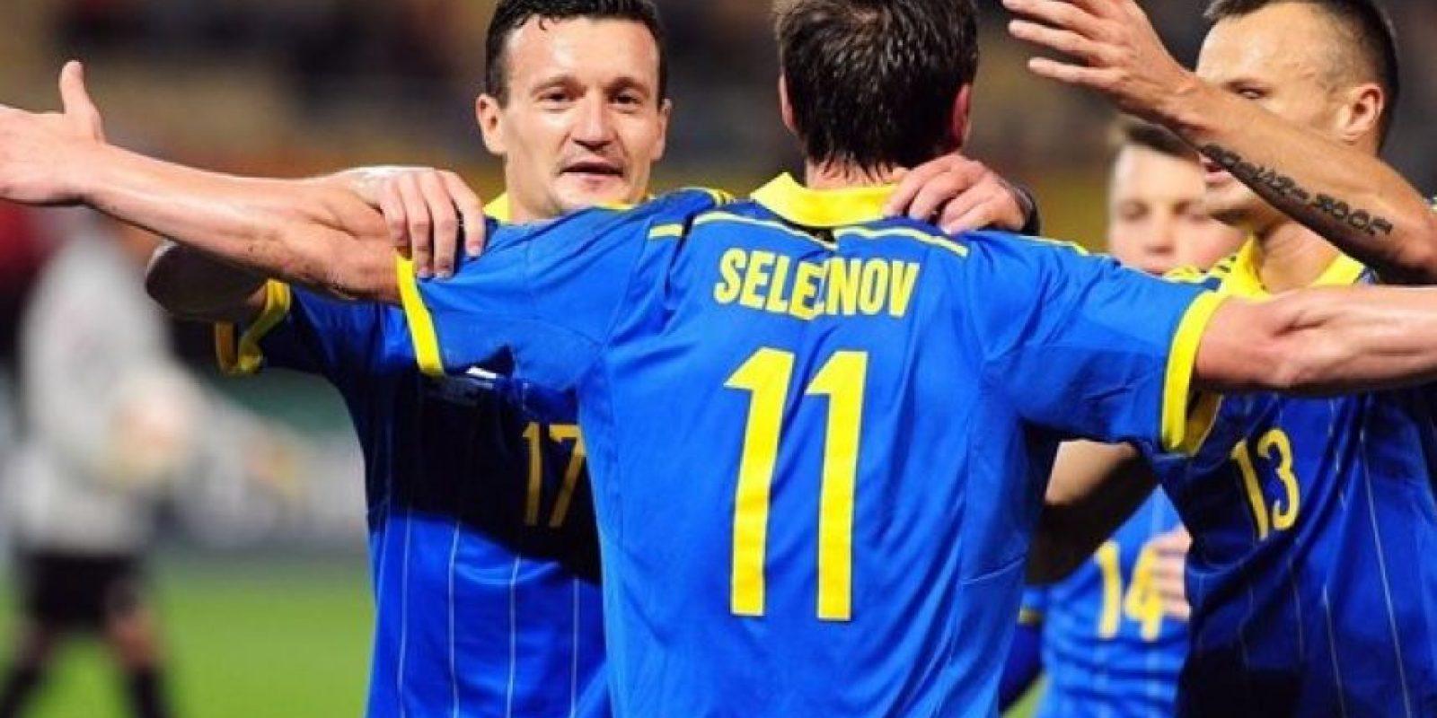 22. Ucrania superó en su llave a Eslovenia Foto:AFP