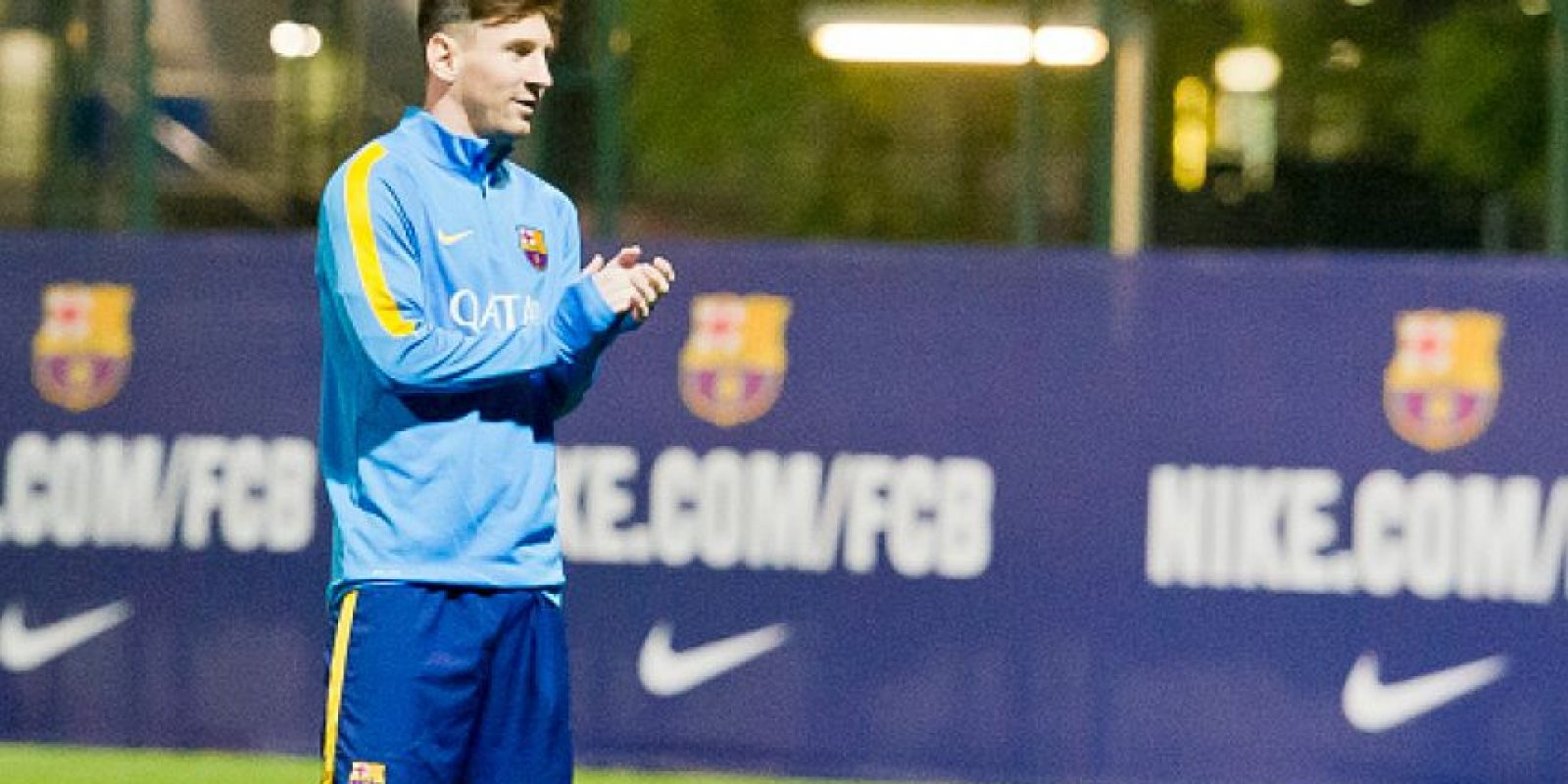 La semana previa al Clásico, Messi sorprendió al aparecer en los entrenamientos del Barcelona. Foto:Getty Images