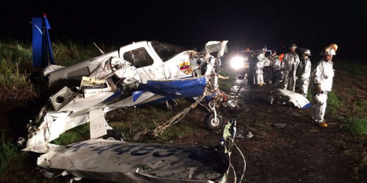 Avioneta se salió de la pista del aeropuerto de Cali y resultan tres personas heridas