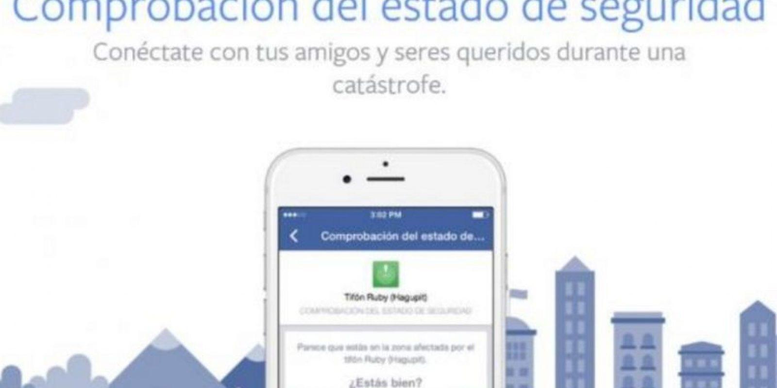 Los usuarios pueden revisar que sus amigos estén bien, confirmar su estado si estaban en la zona de desastre y recibir notificaciones cuando alguien más use la herramienta. Foto: Facebook