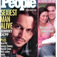 """Johnny Depp es nombrado por primera vez el """"hombre más sexy del mundo"""" en 2003. Foto:Revista """"People"""""""