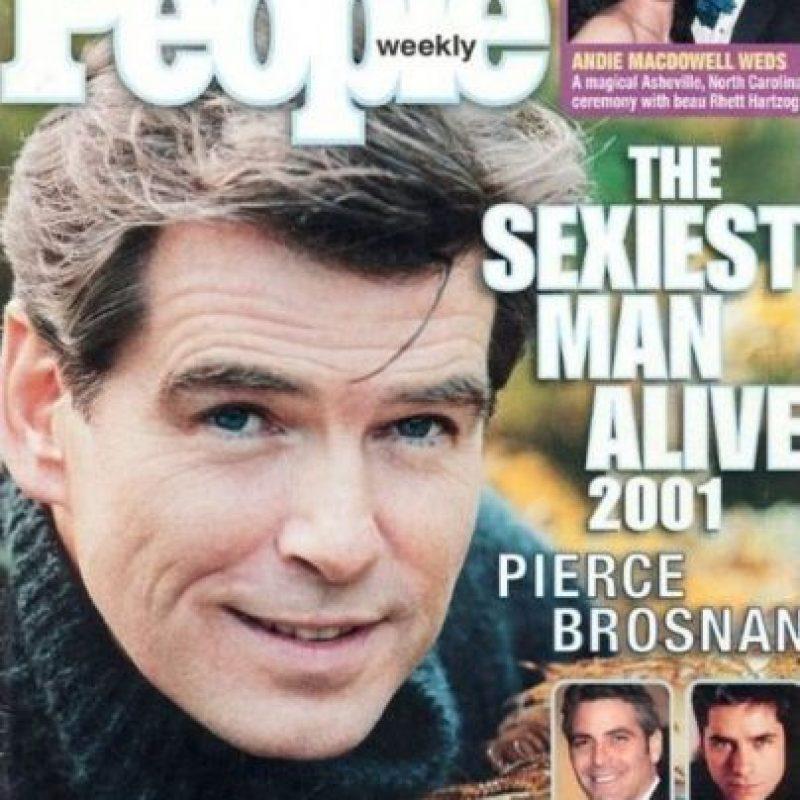 "Pierce Brosnan en 2001 Foto:Revista ""People"""