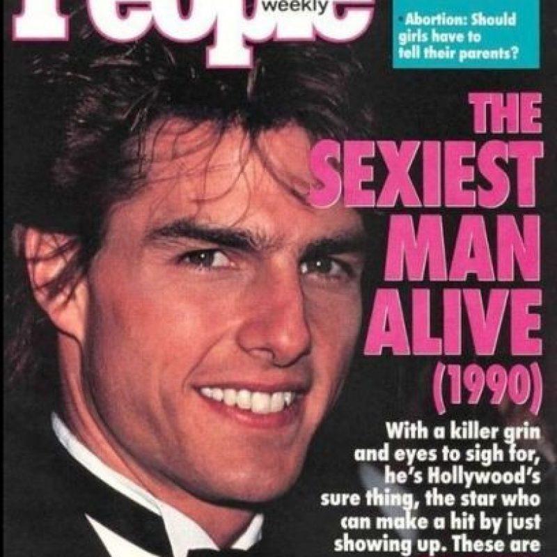"""Tom Cruise en 1990 Foto:Revista """"People"""""""