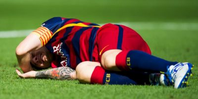 Lionel Messi sufrió una dura lesión durante el partido entre el Barcelona y UD Las Palmas del pasado 26 de septiembre. Foto:Getty Images
