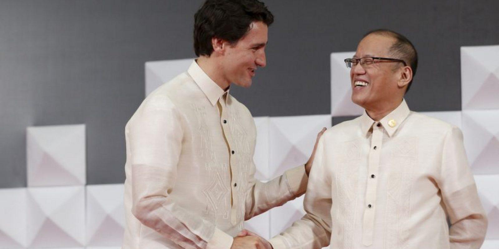 Trudeau junto con el presidente de Filipinas Benigno Aquino III. Foto:AP