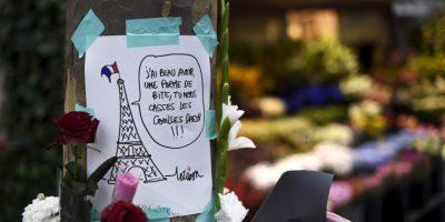 En las imágenes recientemente publicadas se cree que el atacante es el fugitivo Salah Abdeslam Foto:AFP