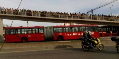 Estaciones de TM congestionadas Foto:Transmileniadas fotográficas / Facebook