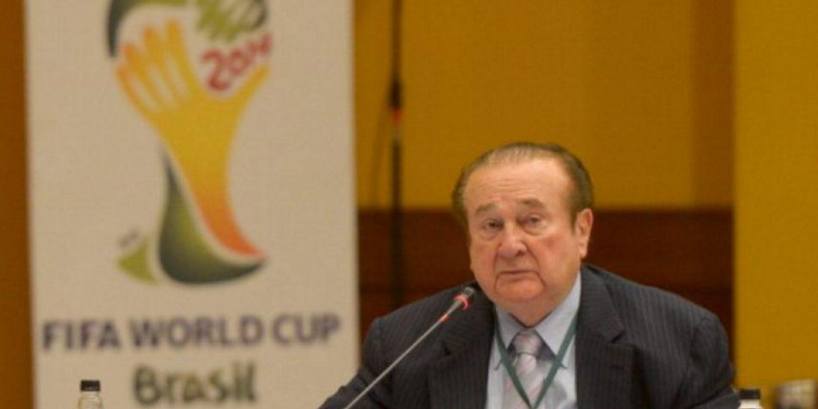 Nicolás Leoz. Paraguayo, 87 años. Exmiembro del Comité Ejecutivo de la FIFA y expresidente de Conmebol. Foto:Getty Images