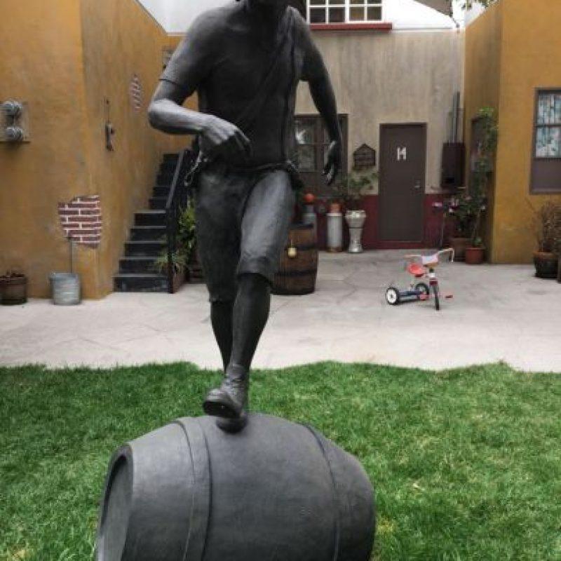 """La estatua de """"El Chavo"""". Foto:Nicolás Corte"""