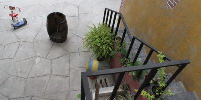"""El patio desde la casa de """"Jaimito"""". Foto:Nicolás Corte"""