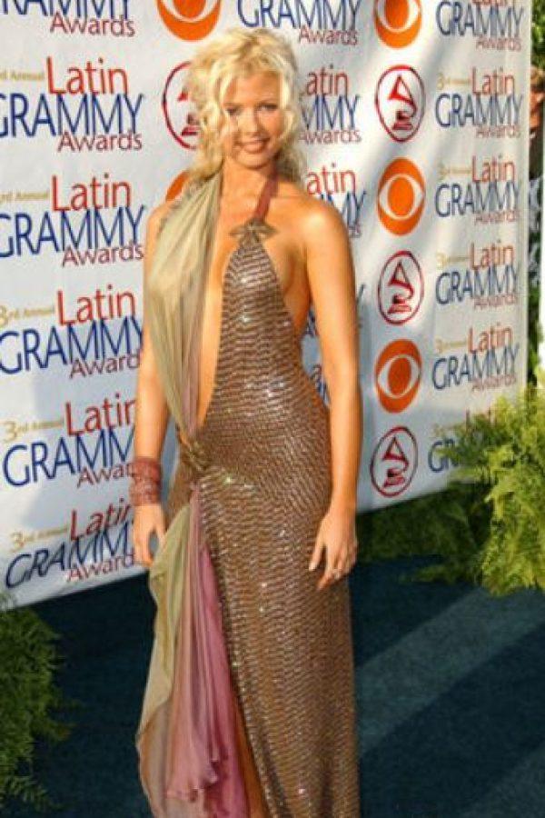"""Sissi Fleitas usó un vestido perdedor de una de las pruebas de """"Project Runway"""". Así salió a la alfombra roja. Foto:vía Getty Images"""